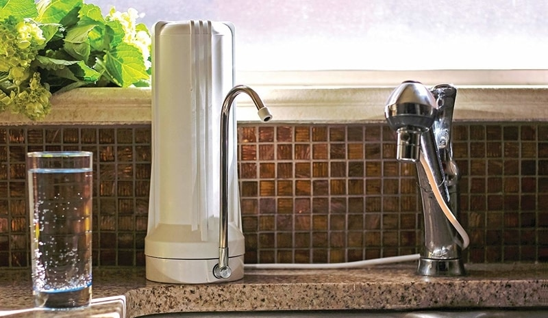Countertop Water Filter Install